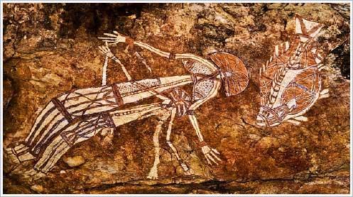 Фото Рисунки древних на скалах