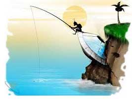 Рисунок Рыбак с Марса