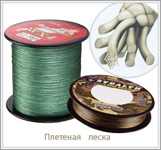 фото сечение плетенной лески
