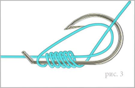 как привязать крючок с лопаткой к плетеной леске